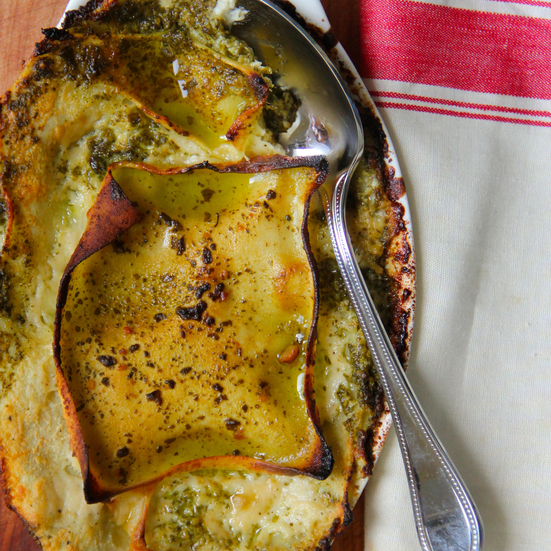 Pesto and Goat Cheese Lasagna