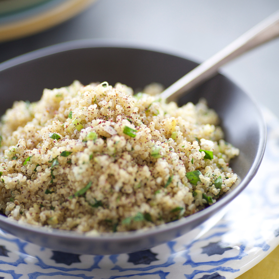 Quinoa Salad with Sumac and Preserved Lemon Dressing