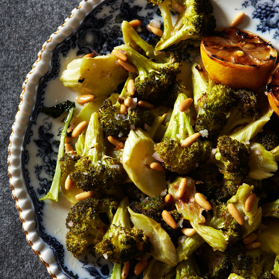 Roasted Broccoli with Lemon and Pine Nuts