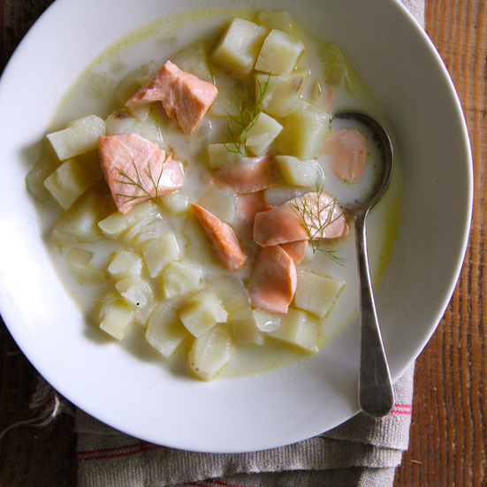 Smoked Salmon and Potato Soup