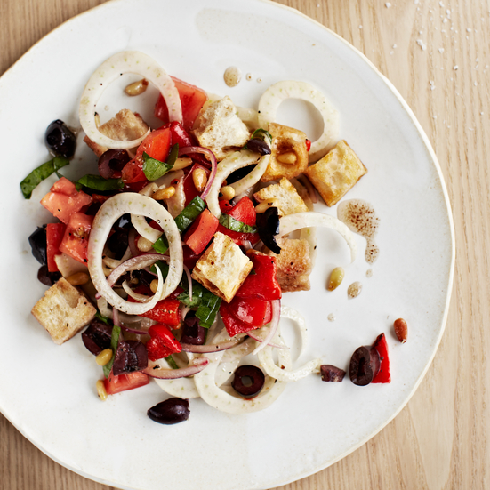 Toasted Panzanella with Tomato and Fennel