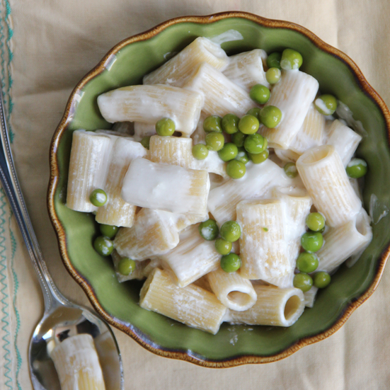 Yogurt and Peas Mac and Cheese