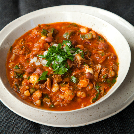Chicken Chili with Beer and Hominy