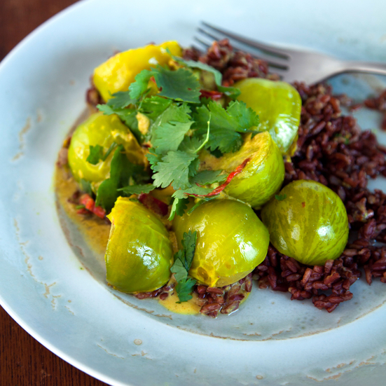 Green Tomatoes in a Coconut-Chili Sauce
