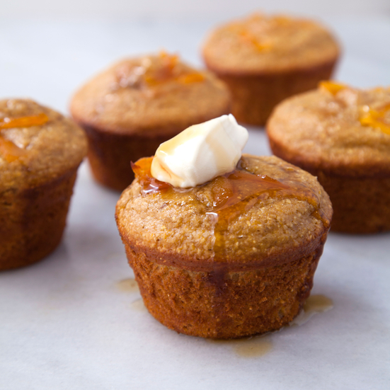 Honey Apricot Cornbread Muffins