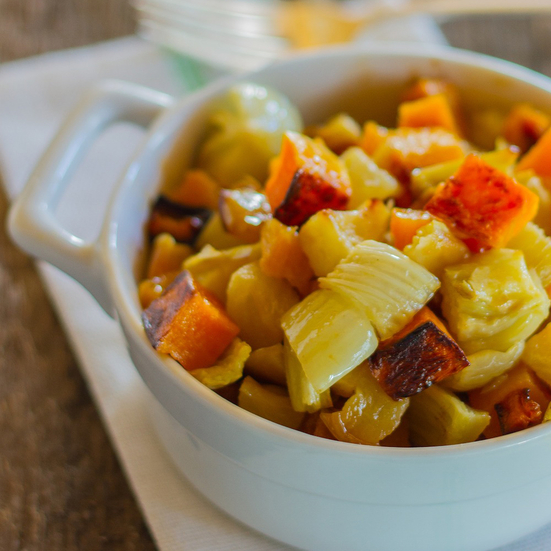 Butternut Squash with Fennel and Apple