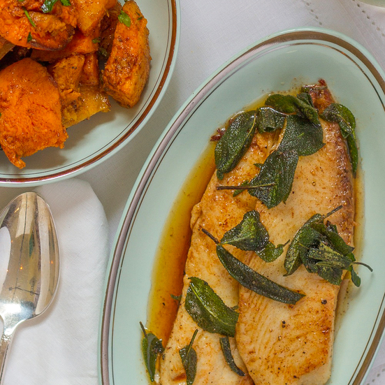 10-minute Tilapia with Sage and Brown Butter