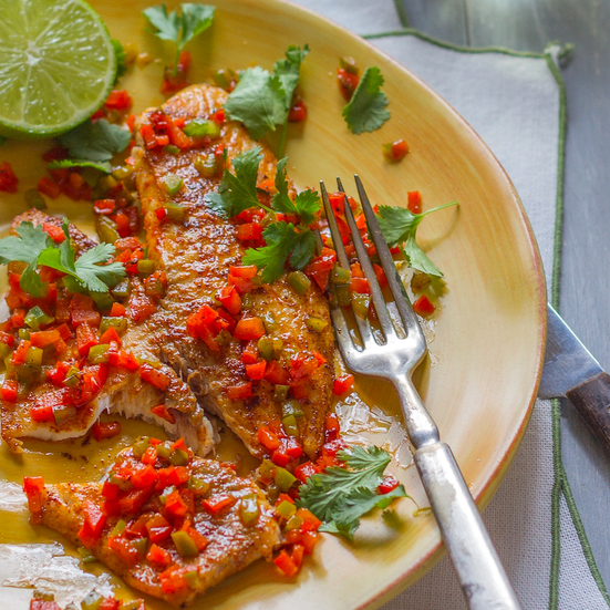 Pan-seared Tilapia with Chiles and Lime