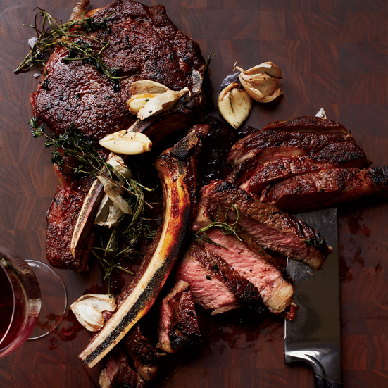 Butter-Basted Rib Eye Steaks Recipe - Christopher Coombs | Food & Wine