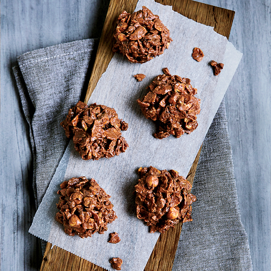 Milk Chocolate, Nut and Raisin Clusters