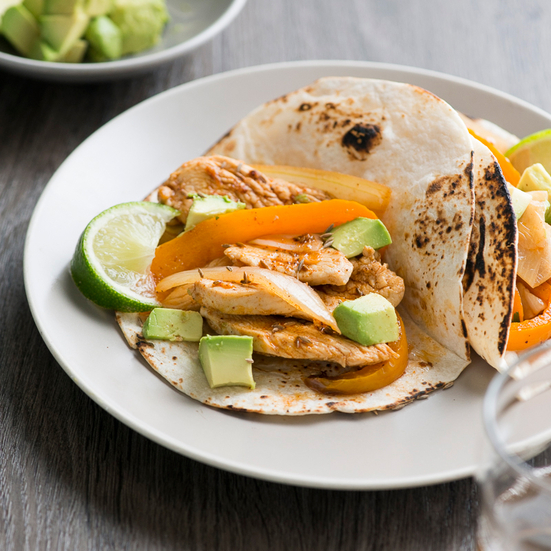 Cumin-Spiced Chicken Fajitas
