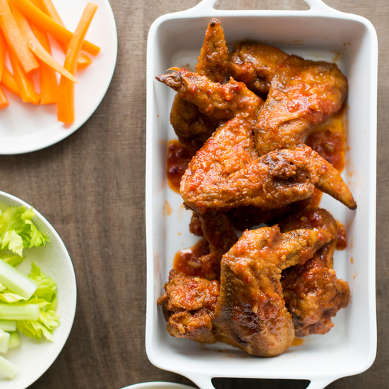 Garlicky Chicken Wings