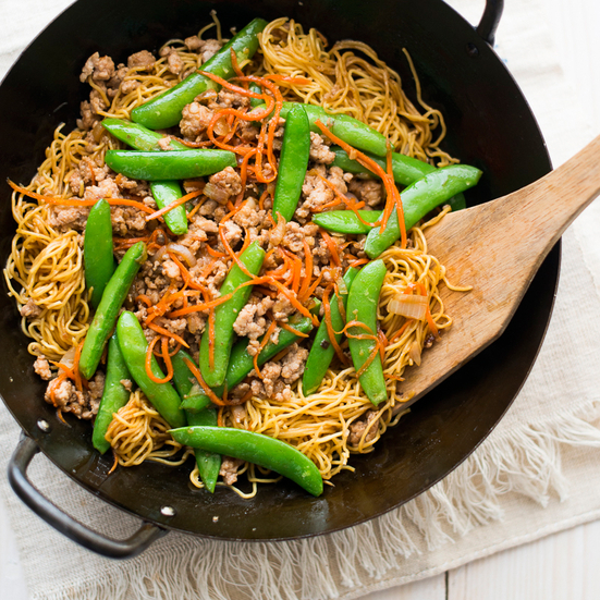 Ginger Pork Chow Mein