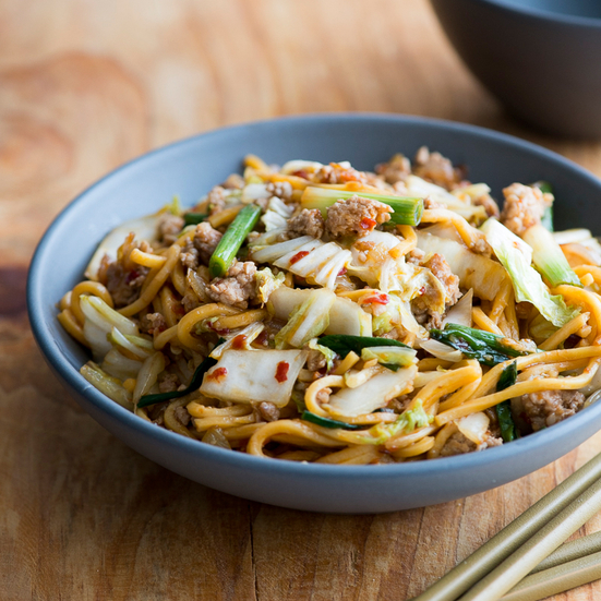 Spicy Pork Chow Mein