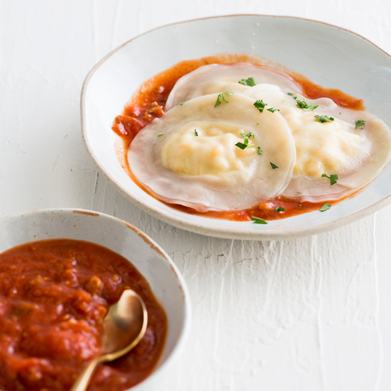 Easy Wonton Corn and Ricotta Ravioli Recipe | Food & Wine ...