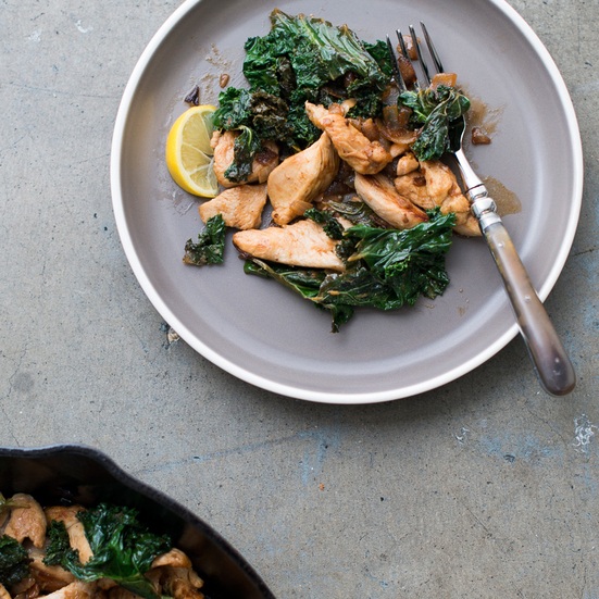 Lemon Chicken Stir-Fry with Kale