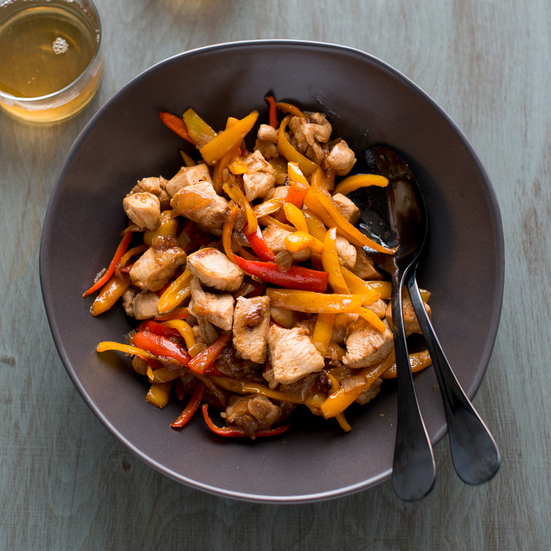 Lemon Zest Chicken Stir-Fry with Sweet Peppers