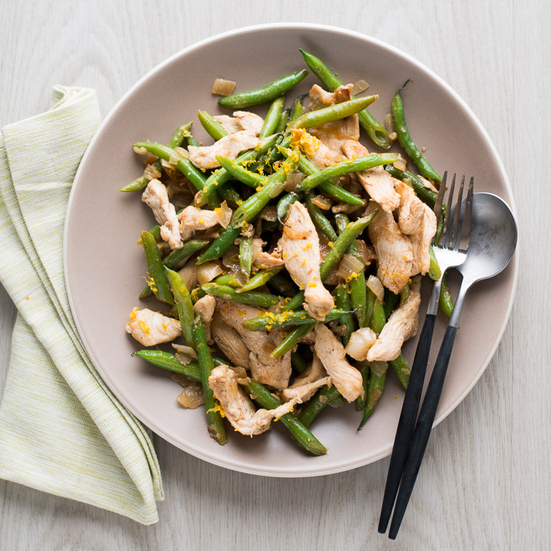 Meyer Lemon Chicken Stir-Fry with Green Beans