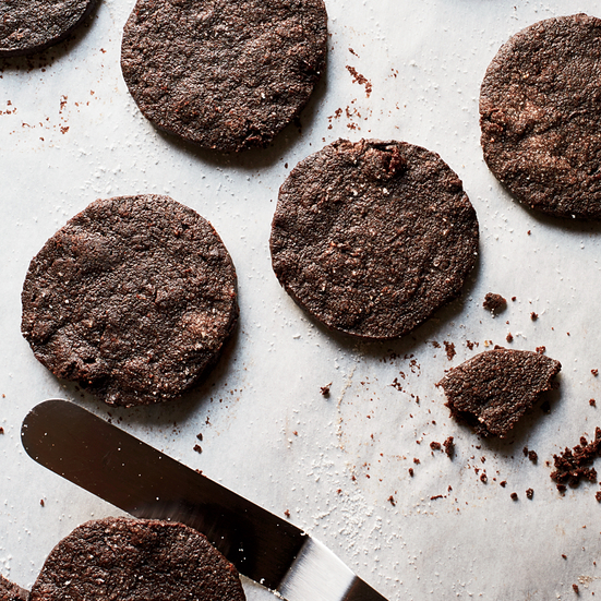 Dark Chocolate-Cherry Shortbreads
