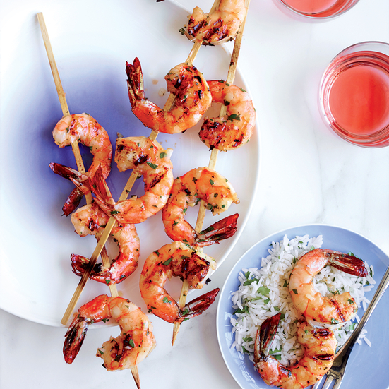 Garlicky Grilled Shrimp