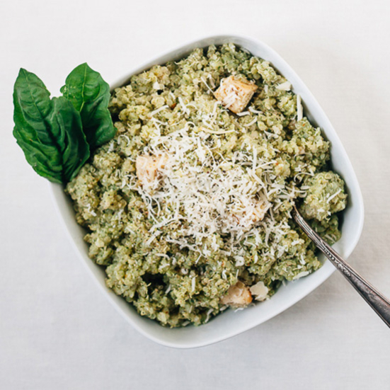 Quinoa with Pesto and Grilled Chicken