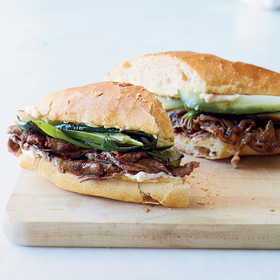 Bulgogi-Style Pepper Steak Sandwiches