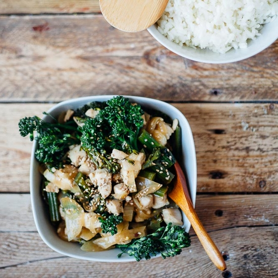 Chicken Stir-Fry with Garlic and Baby Broccoli