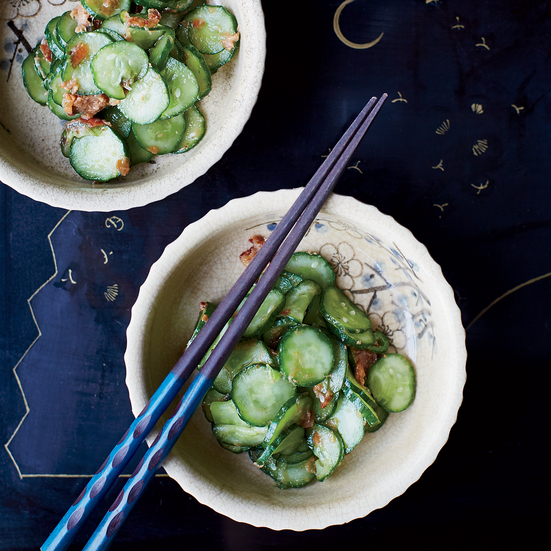 Japanese Cucumbers with Bonito and Umeboshi
