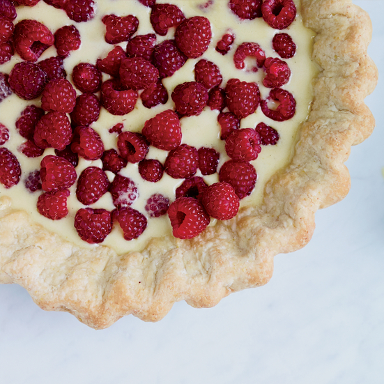 Raspberry–Brown Butter Custard Pie