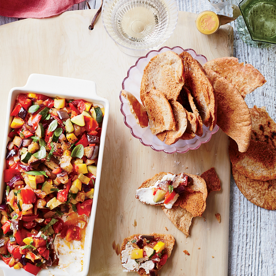 Ratatouille-and-Goat Cheese Dip