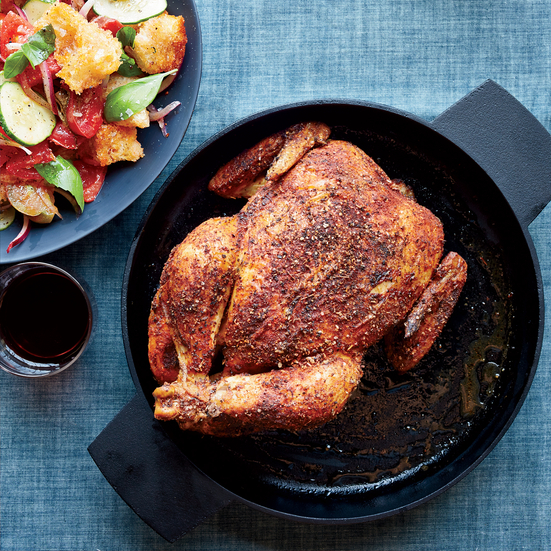 Roast Chicken with Panzanella