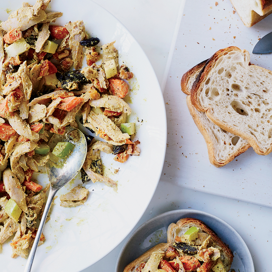 Curried Chicken Salad with Roasted Carrots