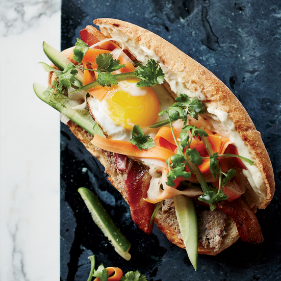 Breakfast Banh Mi Sandwiches Recipe | Food & Wine