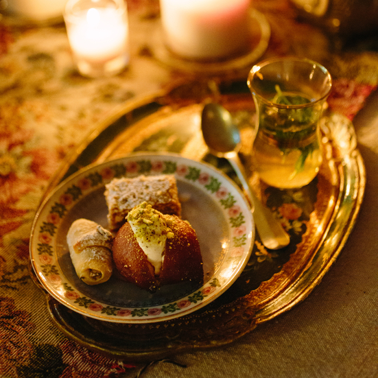 Ekmek Kadayif (Cream-Filled Doughnuts with Pistachios)