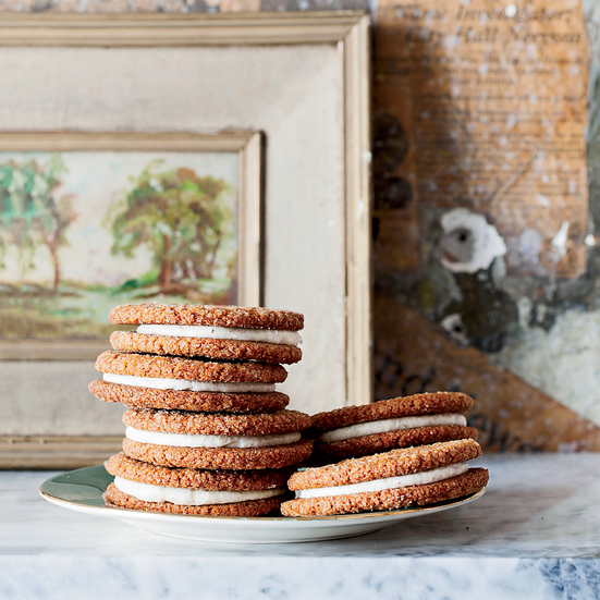 Gingersnap Sandwich Cookies