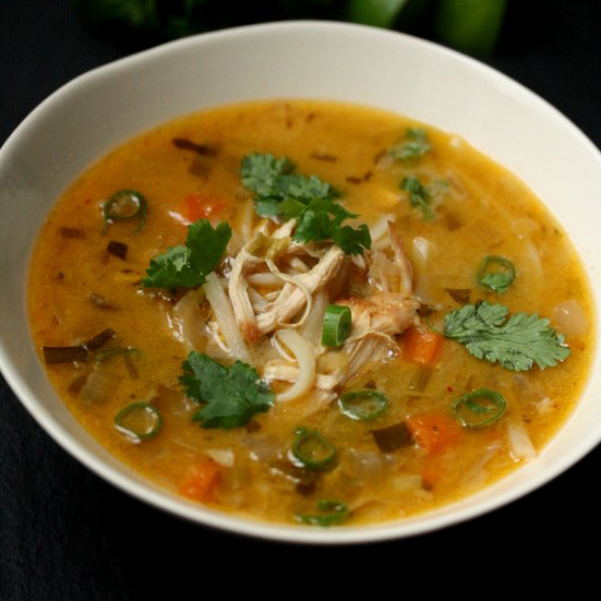 Thai Chicken Noodle Soup with Red Curry