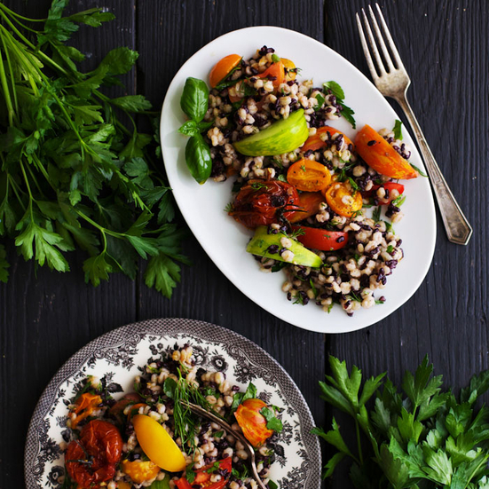 Barley and Rice Tomato Salad