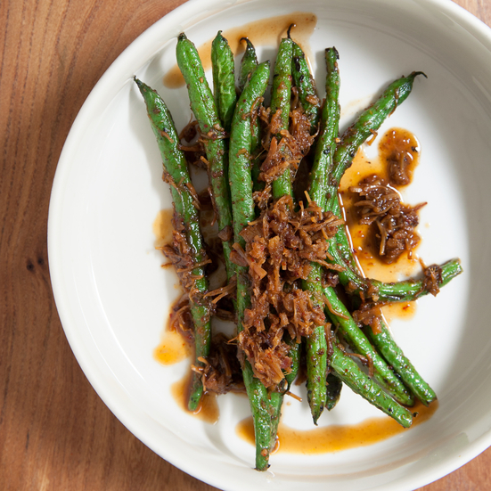 Blistered Green Beans with XO Sauce