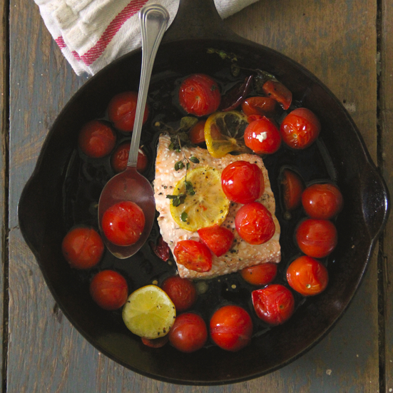 Roasted Cherry Tomato Salmon