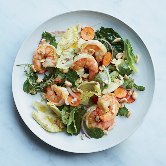 Shrimp Salad with Green Curry Dressing Recipe - Justin Chapple | Food ...