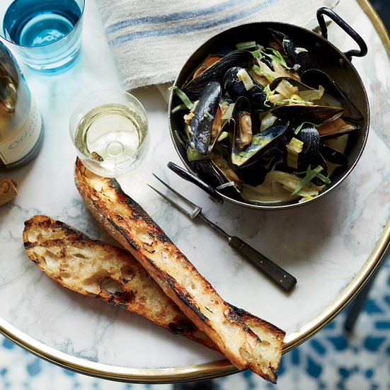 Mussels with Caramelized Fennel and Leeks