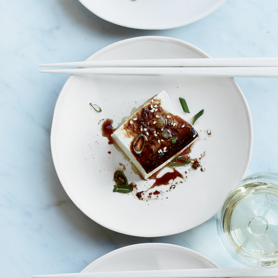 Warm Tofu with Soy-Ginger Sauce