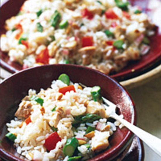 Rice Salad with Chicken and Asparagus