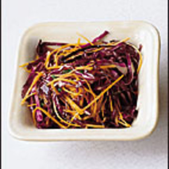 Red Cabbage Slaw with Lemon Dressing