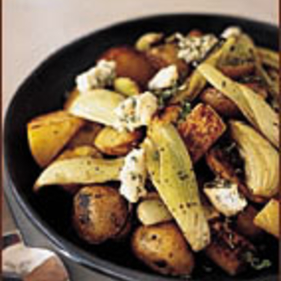 Root Vegetables with Gorgonzola