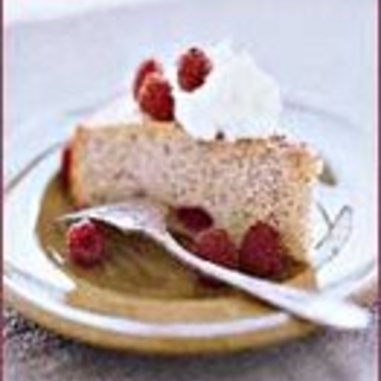 Toasted Almond Raspberry Cake
