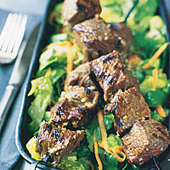 Beef Satays over Thai Salad