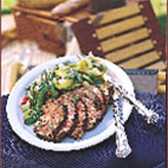 Glazed Beef Tenderloin with Curried Vegetables