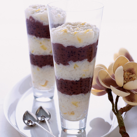 Black-and-White Coconut Rice Pudding