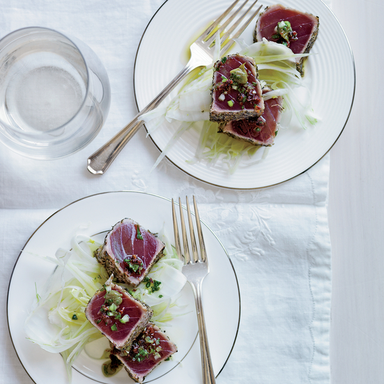 Seared Tuna with Suace Vierge by Eric Ripert.